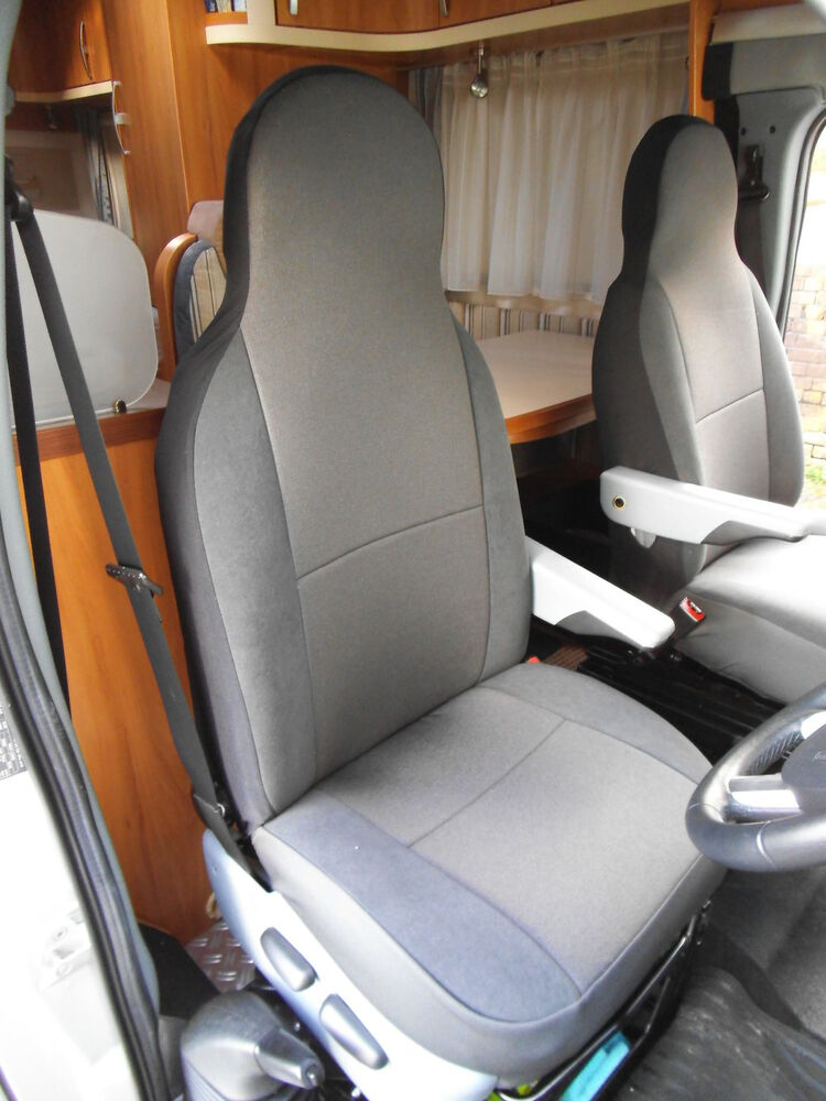 FIAT DUCATO MOTORHOME SEAT COVERS GEORGINA TWO FRONTS