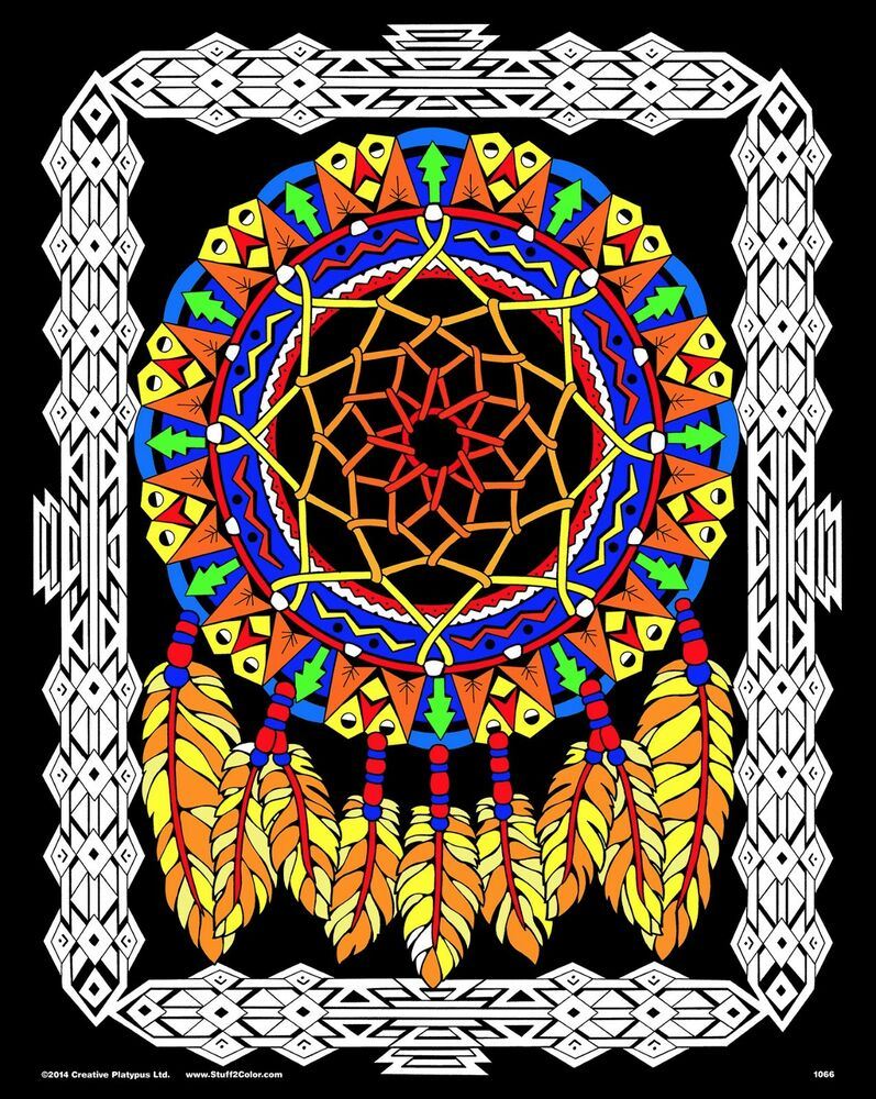 Dream Catcher Large 16x20 Inch Fuzzy Velvet Coloring