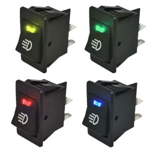 4Pcs 12V 35A Universal Car Fog Light Rocker Switch LED Dash Dashboard 4Pin HS 799975398402 | eBay