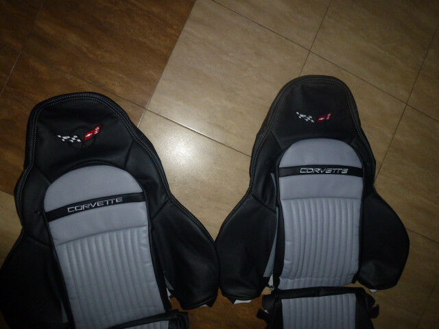 1997 2004 C5 Corvette Synthetic Leather Seat Covers Black