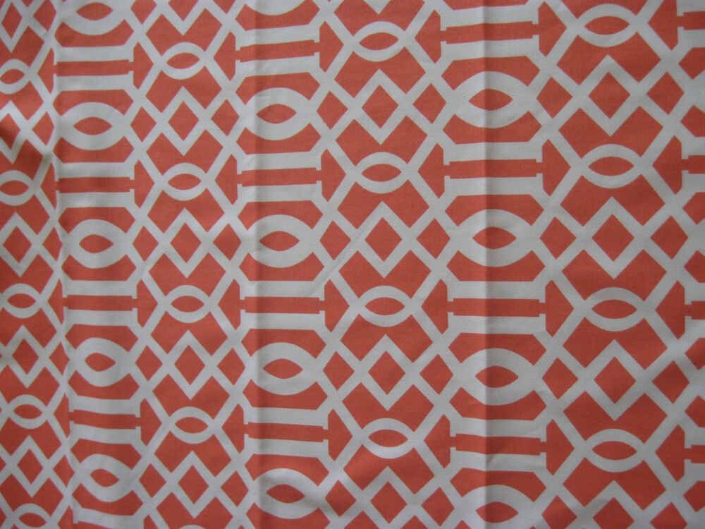 "Orange/white Geometric Pattern 52"" Cotton Home Decor $4"