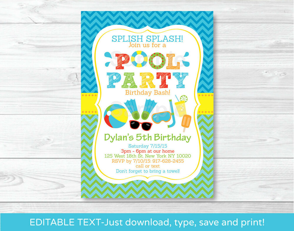 Printable Victorious Invitations