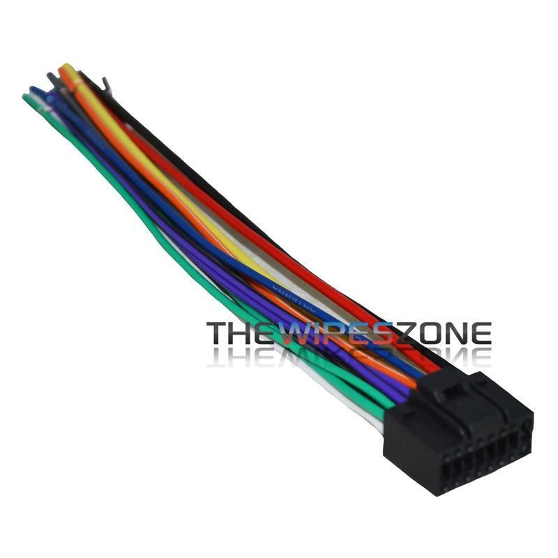 16 Pin Wire Harness For Select Up Jvc Car Radio Cd