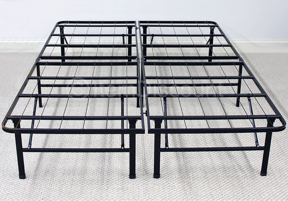 Metal Platform Bed Frame Mattress Foundation Base Folding