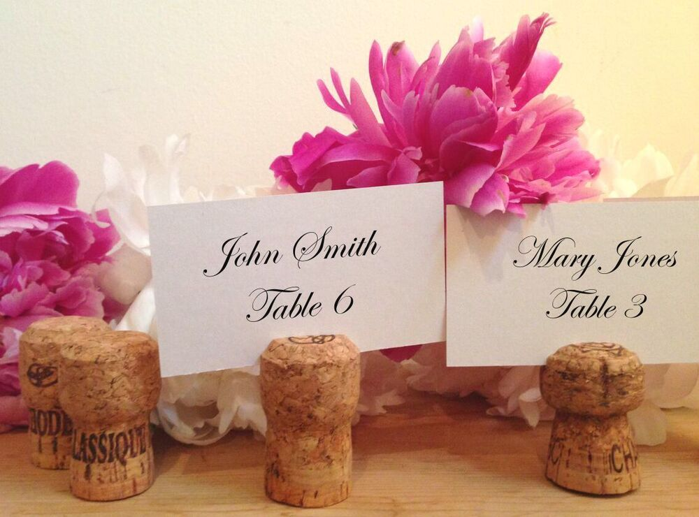 50 Handmade Champagne Cork Place Card Holders For Wedding