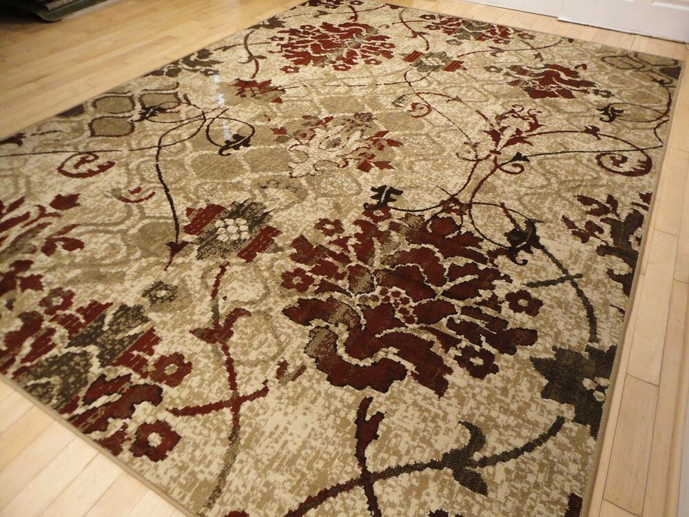 Modern Rug Contemporary Area Rugs Burgundy 8x10 Abstract