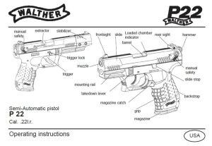 Walther P22 Pistol Owners Instruction and Maintenance