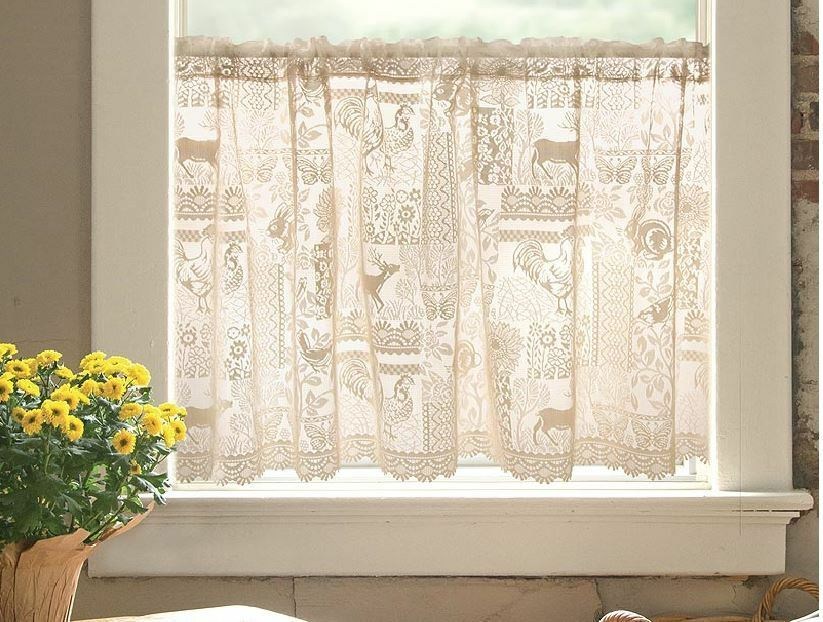 Cafe Woodland Patch Nature Country Lace Wilderness Window Cafe Tier 60x30 EBay