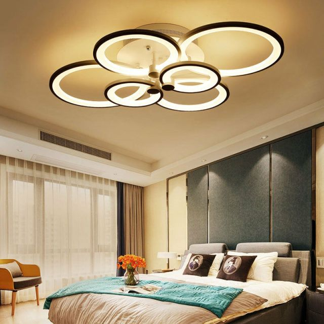 New Modern Bedroom Remote Control Living Room Acrylic 4-8 ...