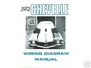 1972 72 CHEVELLEEL CAMINO WIRING DIAGRAM MANUAL | eBay