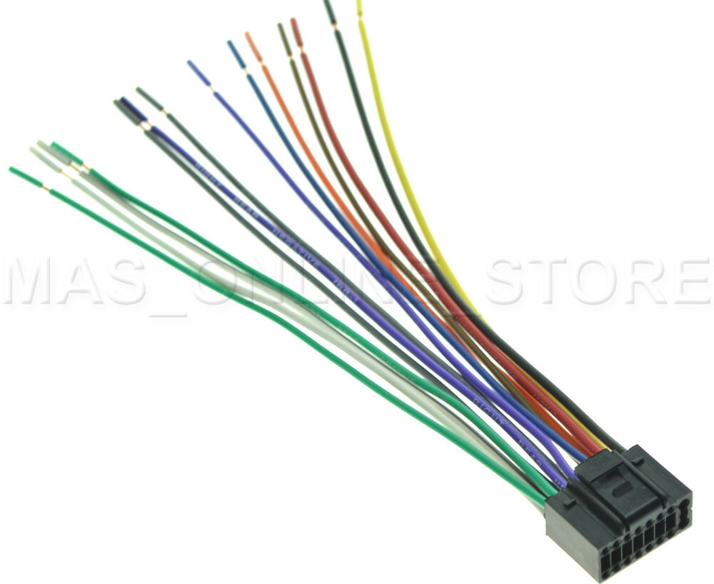 WIRE HARNESS FOR JVC KD-AVX1 KDAVX1 *PAY TODAY SHIPS TODAY