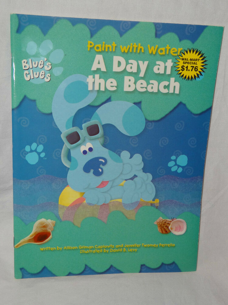 NEW BLUES CLUES PAINT AND WATER COLORING BOOK A DAY AT THE
