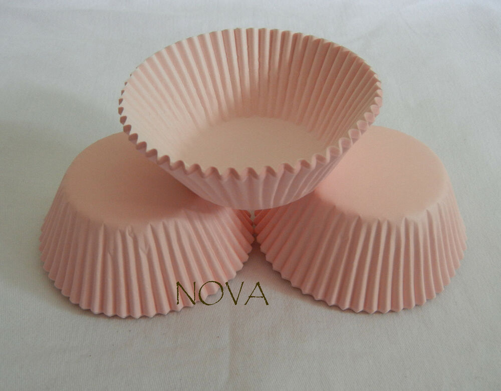 100 Plain Light Pink Cupcake Liners Baking Paper Cup