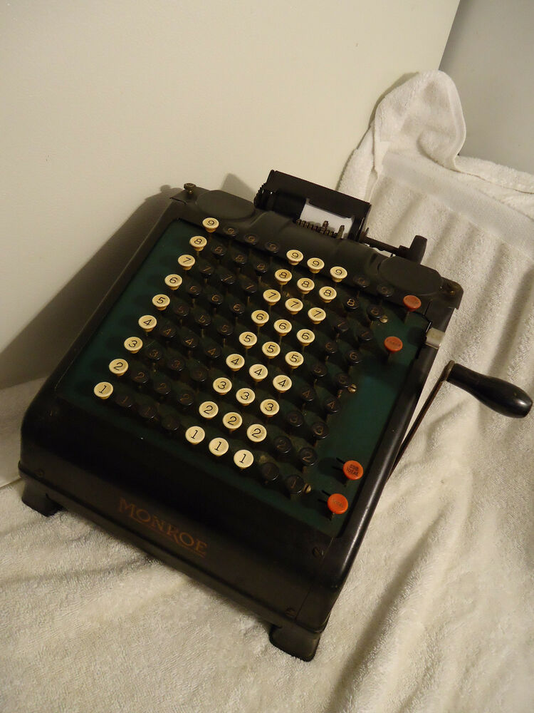 Antique Monroe Adding Machine Calculator Computer Works
