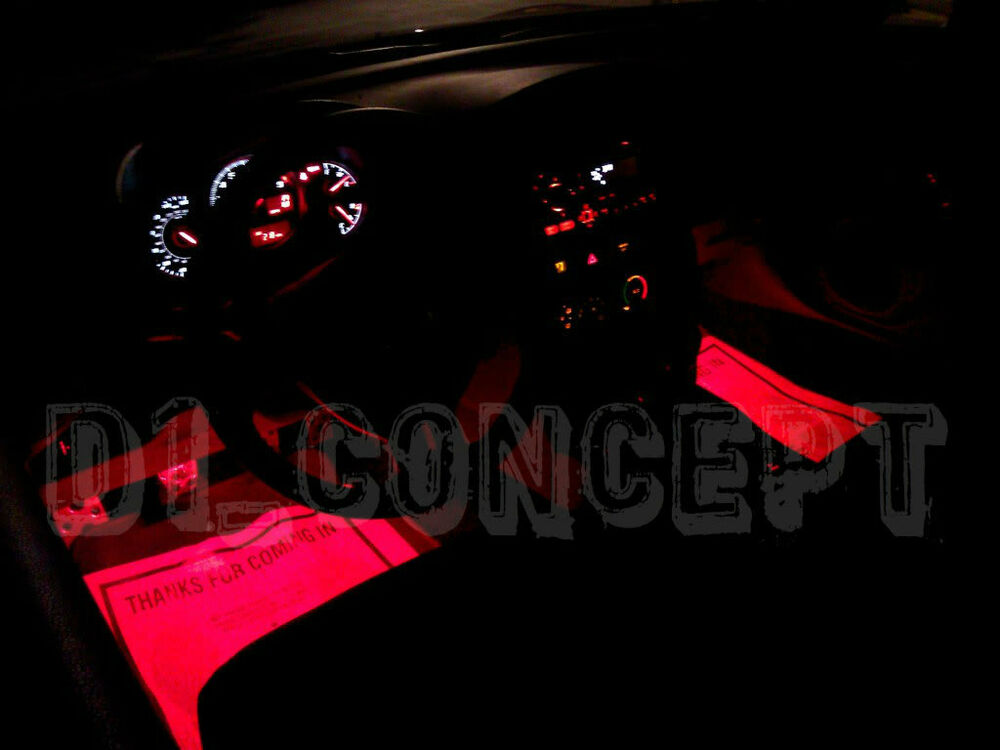 Scion FRS Subaru BRZ Interior Foot Well Floor RED LED