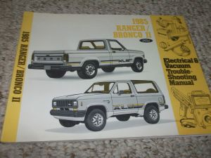 1985 FORD BRONCO II TRUCK Electrical Wiring Diagrams