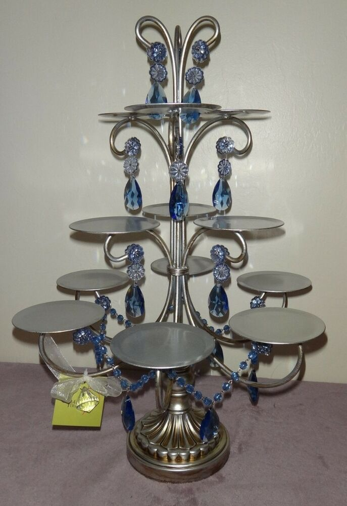 Amazing Opulent Treasures Silver With Blue Drops 12