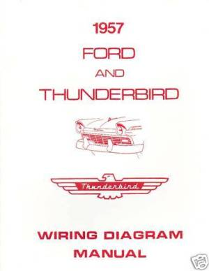 1957 FORD THUNDERBIRD WIRING DIAGRAM MANUAL | eBay