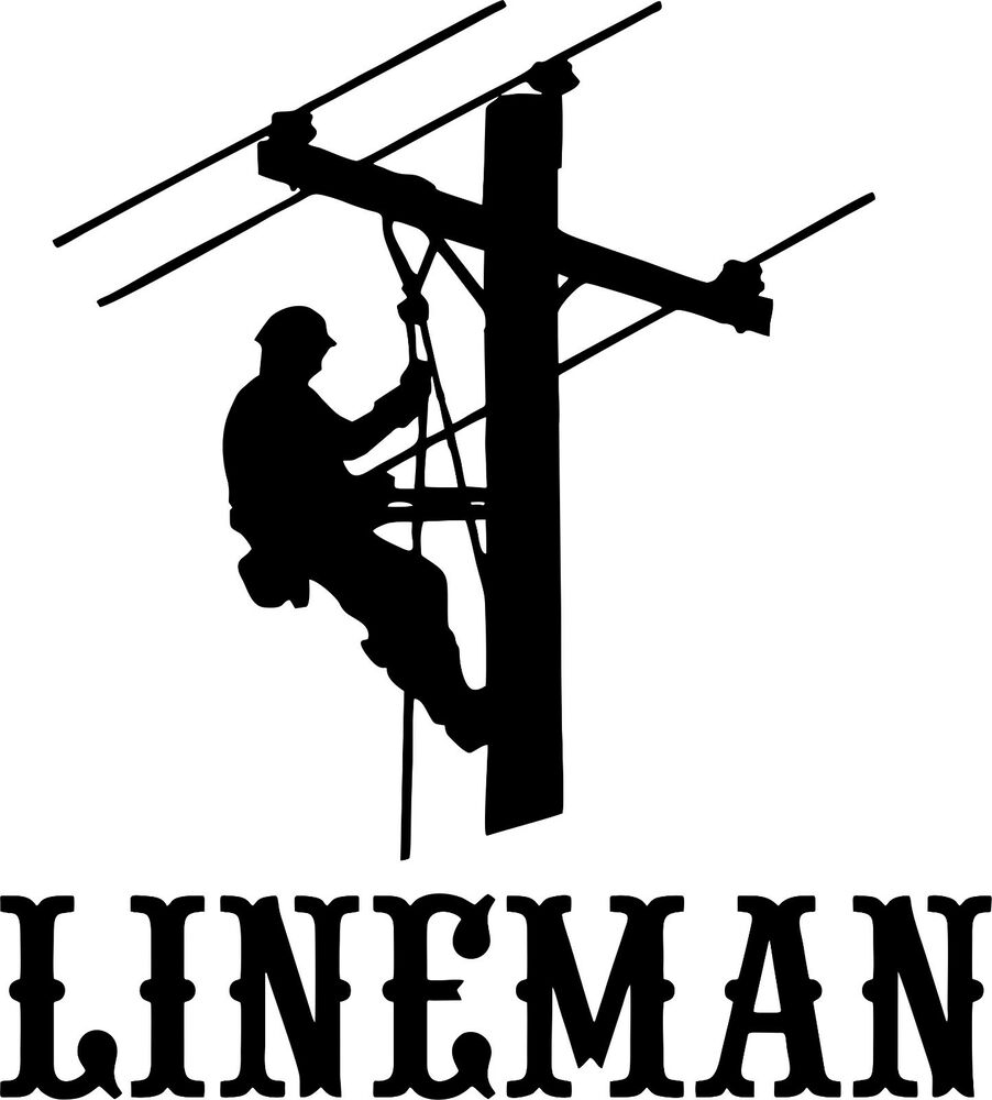 Lineman Standing Pole Decal