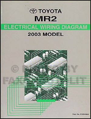 NEW 2003 Toyota MR2 Wiring Diagram Manual MR 2 Electrical Schematics Shop Repair | eBay