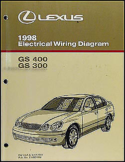 1998 Lexus GS 300 400 Wiring Diagram Manual GS300 GS400