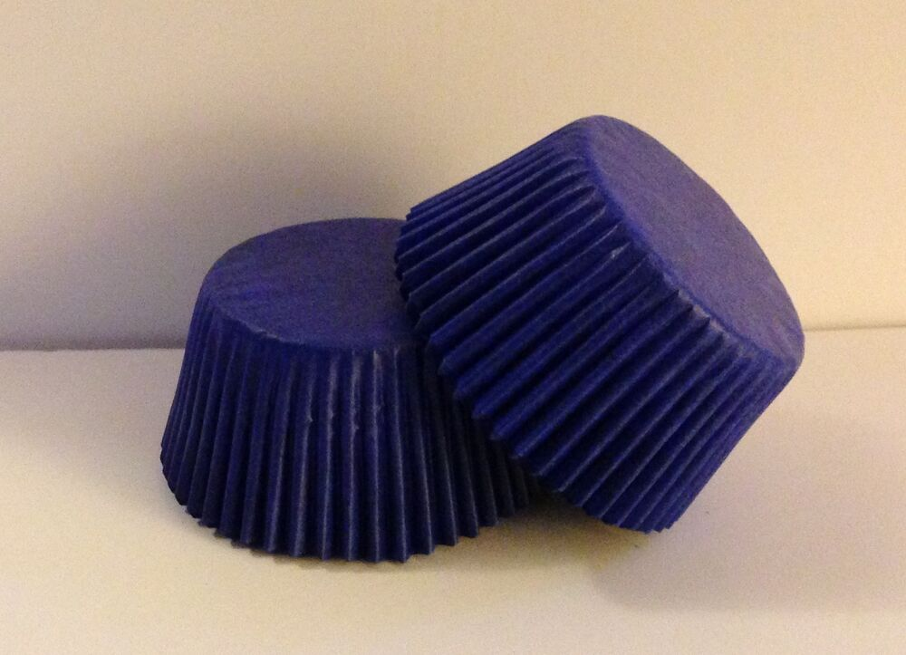 Glassine Blue Standard Size Cupcake Liners