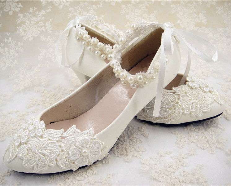 Strappy Ivory Bridal Shoes
