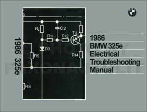 1986 BMW 325e Electrical Troubleshooting Manual Wiring