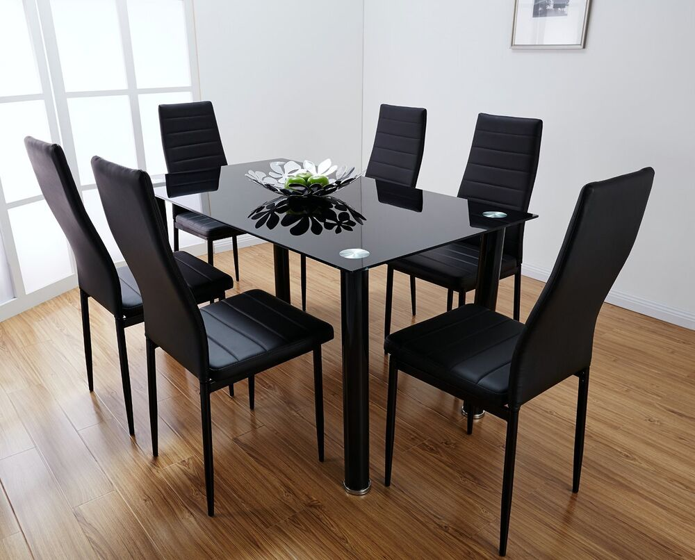 Image Result For Black Dining Table And Chairs Ebay