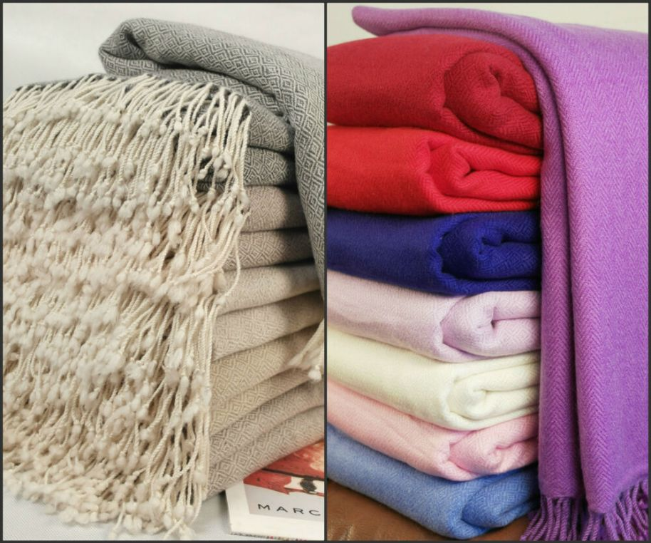 New Luxurious Pure Cashmere Blankets Throws Hand Woven | eBay