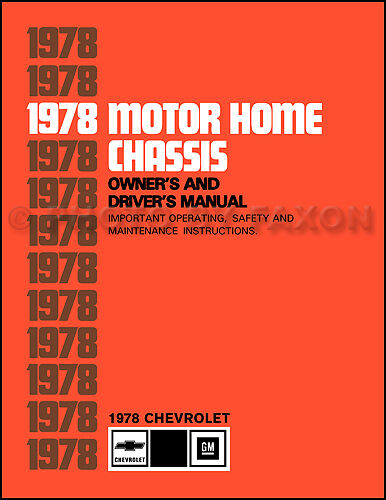 Chevolet Motor Home Chassis Owners Manual Chevy P30