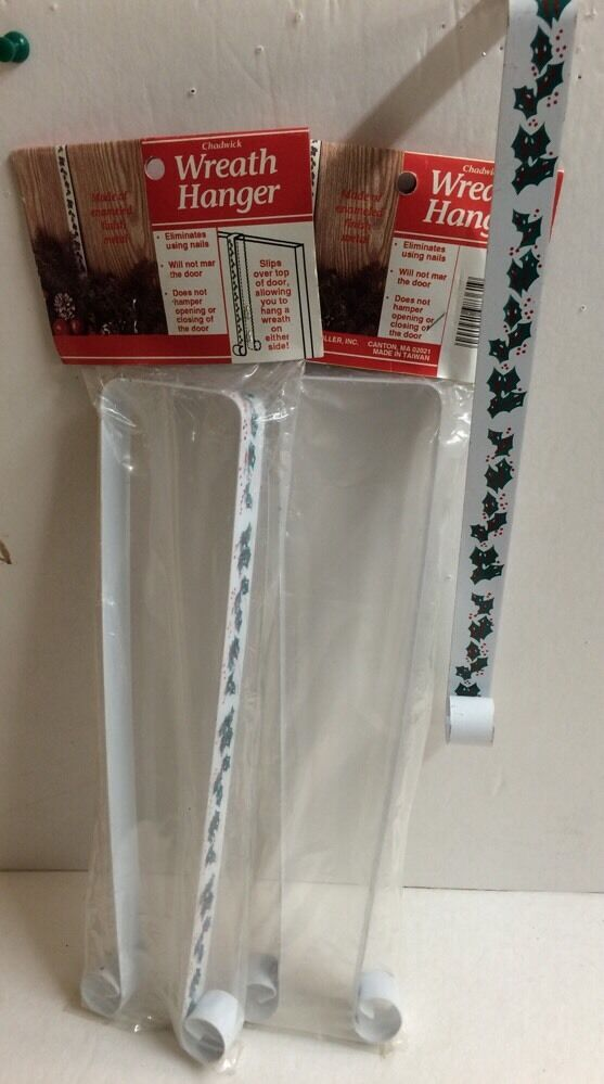 3 Wreath Hanger New Christmas Double Sided Metal Over The