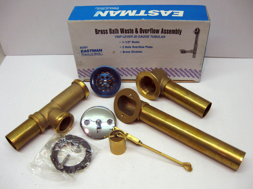 35201 Bath Tub Drain Waste Amp Overflow Assembly Brass