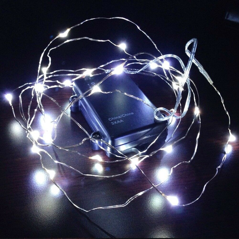 Battery Operated White String Lights