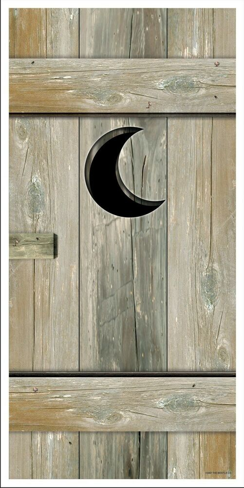 Wild West Outhouse Door Cover Wall Prop Decoration Cowboy