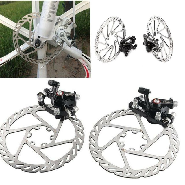 Mountain Bike Road Bicycle 160mm Rotors Front Rear Disc ...
