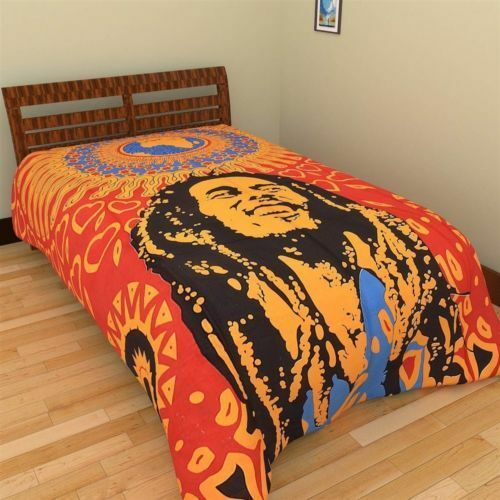 Indian Bob Marley Bed Cover Bohemian Bedspread Hippie