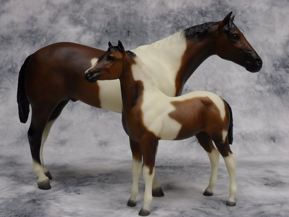 Breyer Legacy 760798 Sears Sr Pinto Stallion Amp Foal