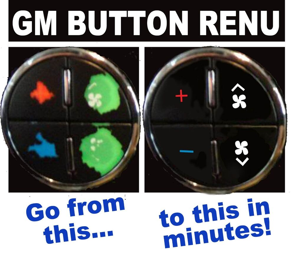 2009 2011 Buick Enclave AC Buttons Flaking Peeling Repair