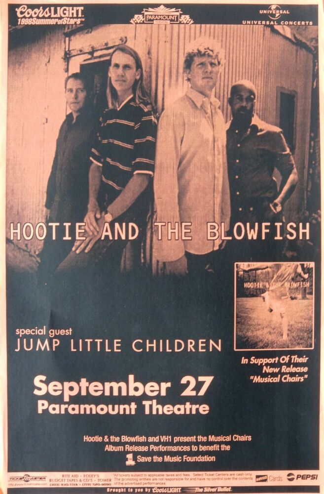 HOOTIE AND THE BLOWFISH MUSICAL CHAIRS TOUR 1998 DENVER