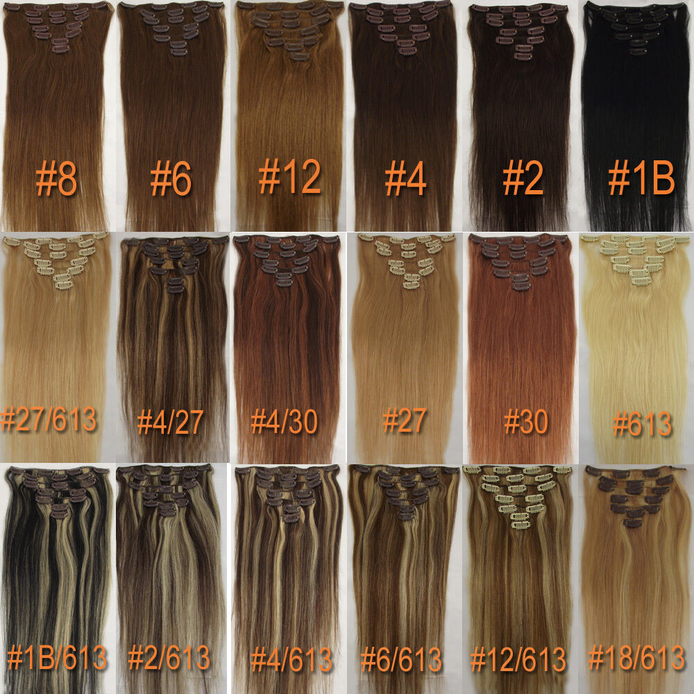 Any ColorampLength Clip In Human Hair Extensions Real Human