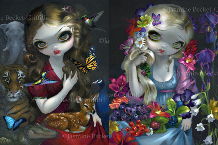 Jasmine Becket Griffith SIGNED Goddess Fairy Flora And