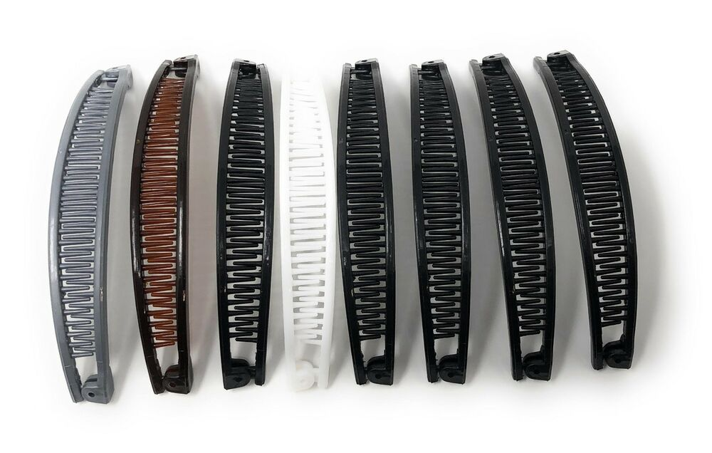 8 PCS BANANA HAIR CLIPS PONYTAIL CLAW COMBS THE COLOR