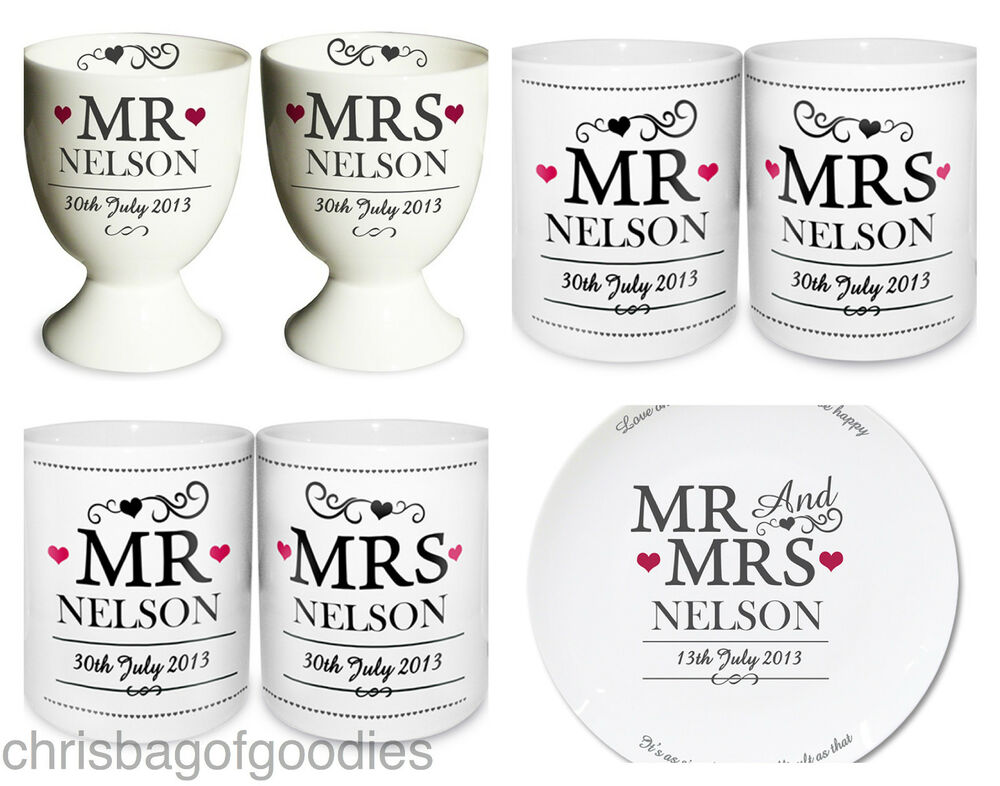 PERSONALISED MR & And MRS Gifts For COUPLE BRIDE GROOM