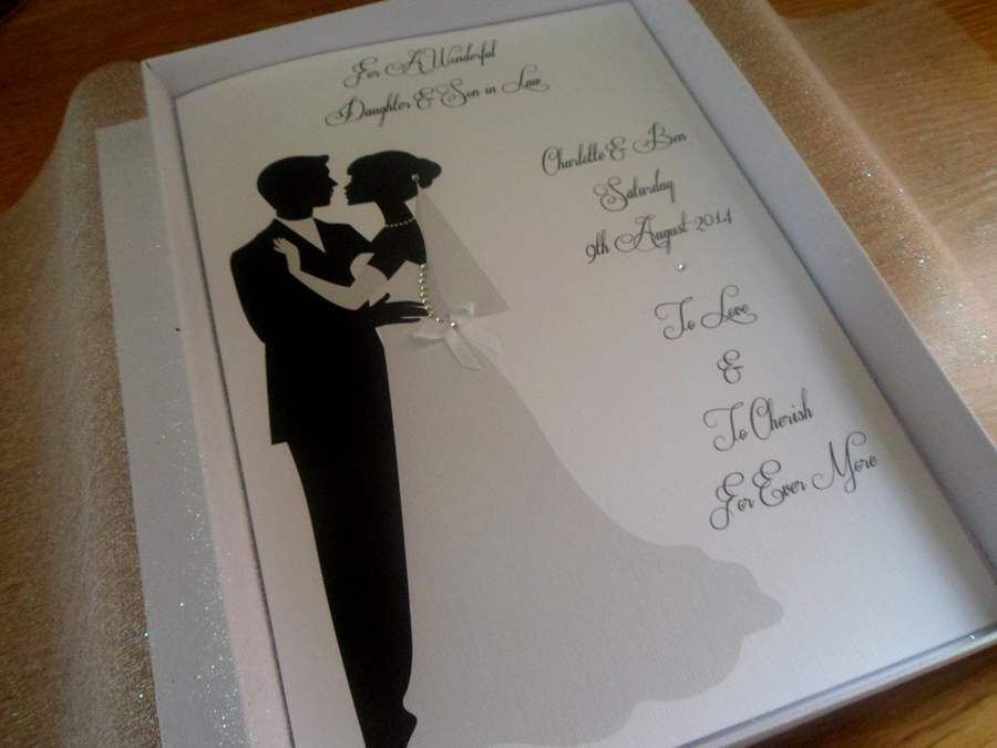 Handmade Personalised A5 Boxed Wedding Card EBay