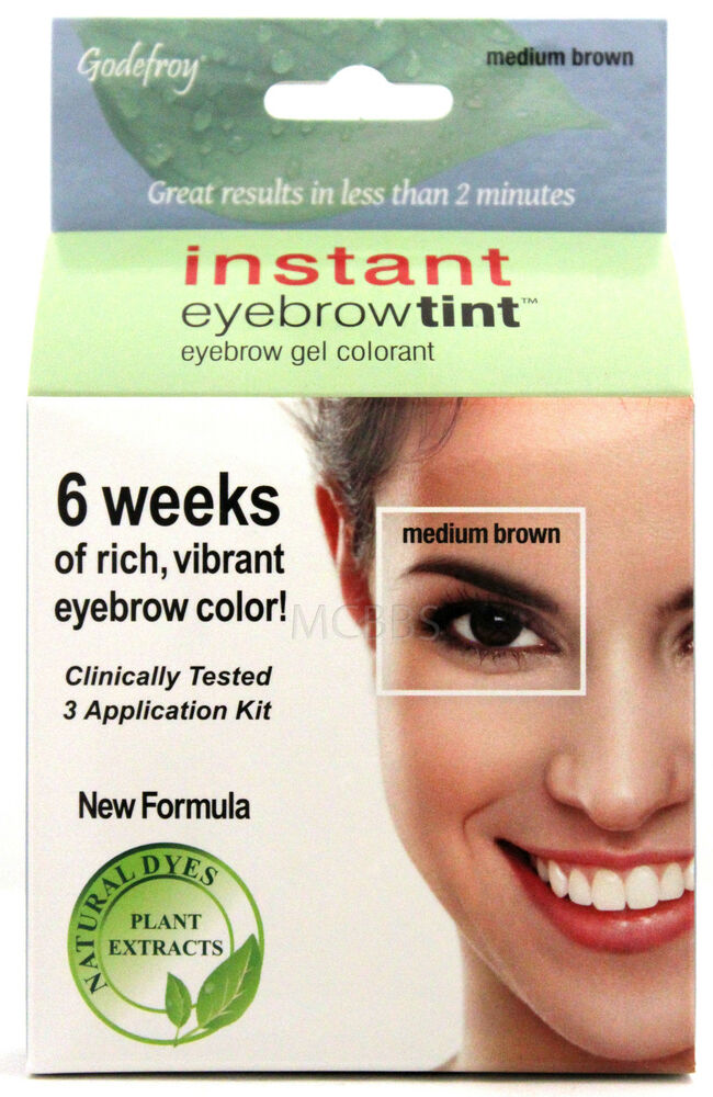 GODEFROY INSTANT EYEBROW TINT PERMANENT COLOR KIT NATURAL