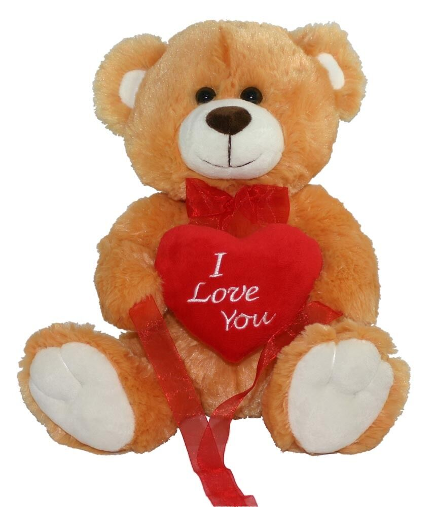 NEW BROWN LOVE YOU TEDDY BEAR SOFT PLUSH VALENTINES DAY