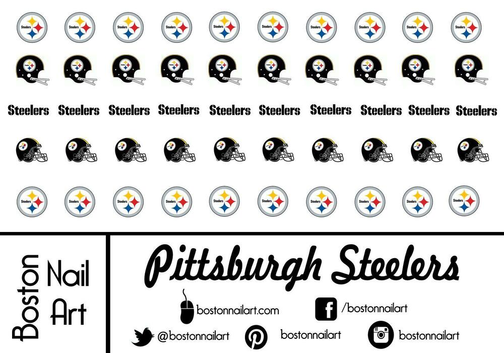 Nfl Steelers Nail Decals