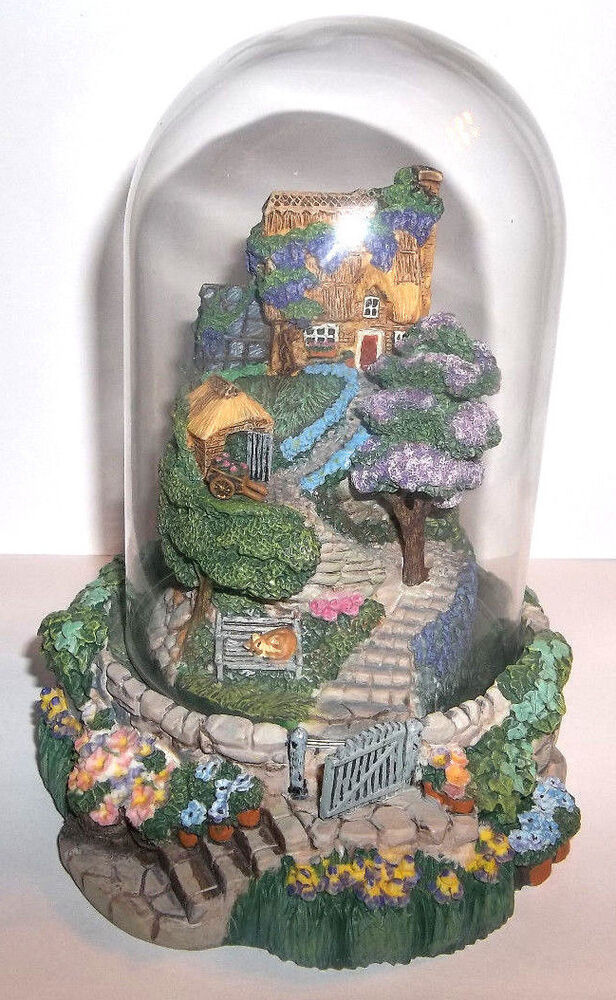 Franklin Mint Lavender Hill Cottage Painted Figurine
