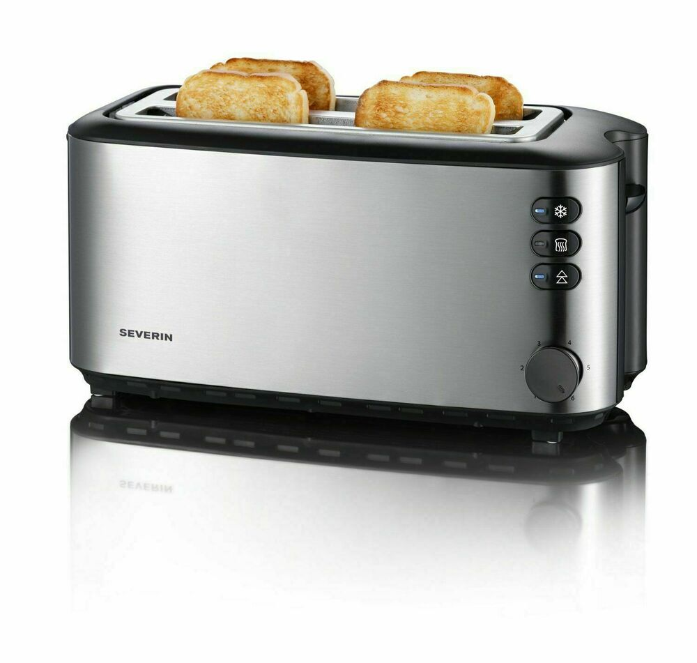 Severin Automatic Long Slot Toaster 4 Slice 1400W Brushed ...